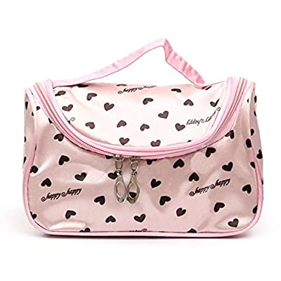 244a9e419ff7 70%OFF StylesILove Womens Compact Cosmetic Organizer Beauty Essential Makeup  Bag (Hearts Pink)