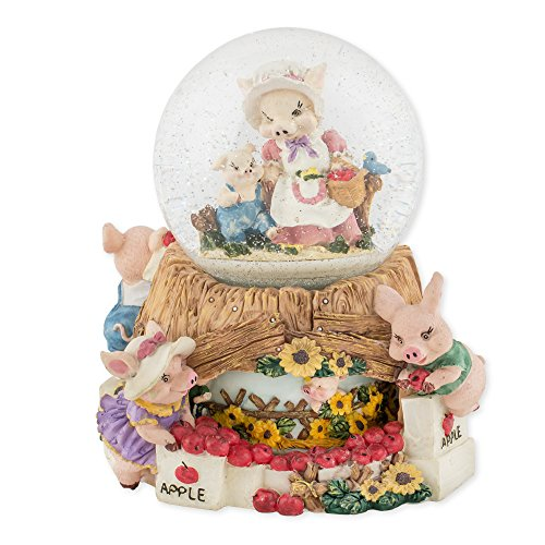 Momma Pig and Piglets 100mm Resin Water Globe Plays Tune Take Me Home, Country Roads by Cadona International, Inc