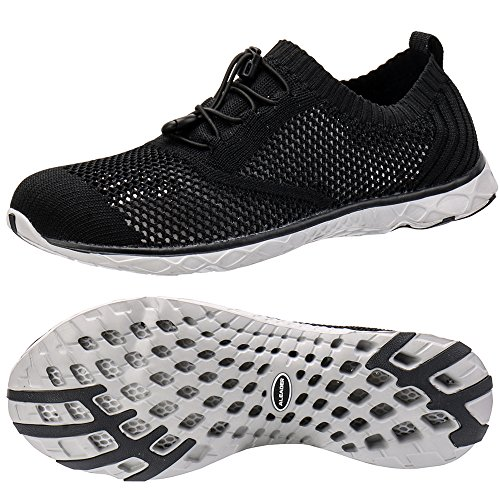 ALEADER Men's Adventure Aquatic Water Shoes Black/Gray 13 D(M)