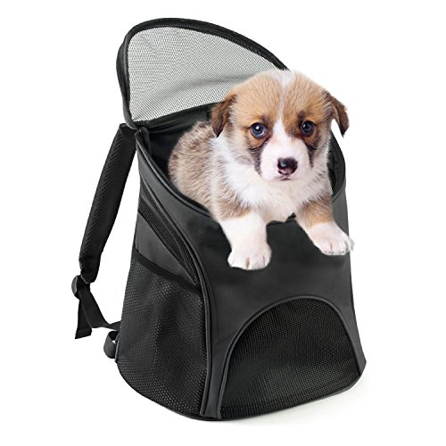 Poppypet Spielraum Rucksack für Hundekatze Haustier, Breathable hundetaschen für kleine hunde Hundebox Transportbox für Haustiere Hundetragetasche Hundezubehör( S: Great for pets up to 3Kg)