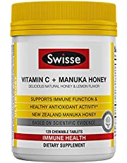 Swisse Ultiboost Vitamin C with Manuka Honey | Immunity Support, Rich in Antioxidants | 240 Chewable Tablets