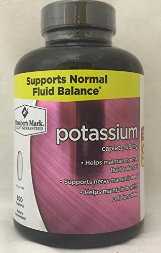 Cheap Member's Mark Potassium Gluconate Caplets 99mg (1 bottle (500 caplets))