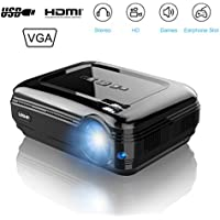 LESHP 3200 Lumens LCD Projector, HD Multimedia Home Theater Video Projector 19201080 Resolution Support 1080P HDMI USB VGA AV for Mobile Home Cinema TV Laptop Game with HDTV cable (black)