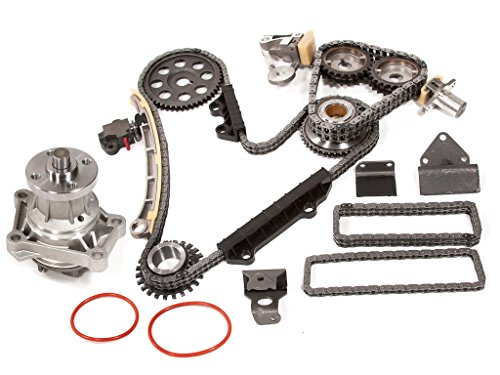 Evergreen TK8010WPT Fits Chevrolet Suzuki H25A H27A V6 Timing Chain Kit with Water Pump (with Gears)