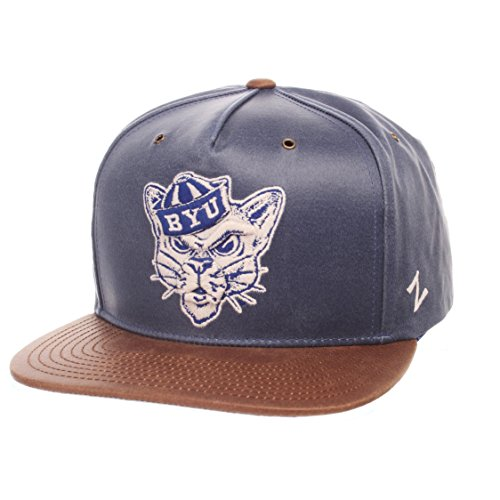 NCAA Byu Cougars Adult Men Tribute Heritage Collection Hat, Adjustable, Team Color/Cracked Leather
