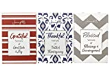 JennyM   Grateful, Thankful, Blessed - 3 Pack Boxed Bible Verses Inspirational Prayer Cards, Memory Verse of the Day Scripture Cards with Keepsake Box, Boxed Inspirational Blessing Cards, Christian Gi