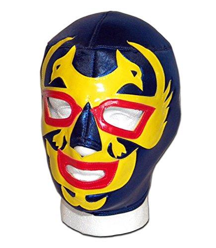 WRESTLING MASKS UK Men's Dos Caras Lucha Libre Luchador Wrestling Mask One Size Blue/Yellow by Wrestling