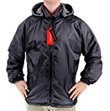 Maximos Men's Lax Security Reversible Water Resistant Jacket With Removable Hood (3XL, Black)