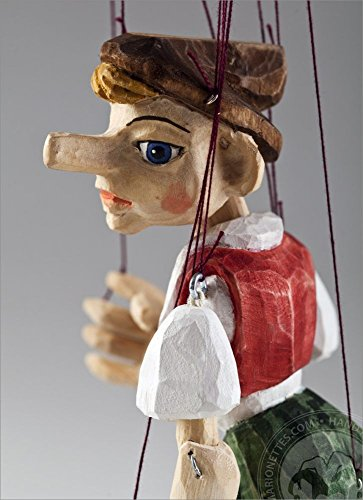 Pinocchio Hand Carved Marionette S Size made in Czech Republic by Czech Marionettes