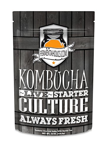 Kombucha SCOBY & Starter Tea - Live Starter Culture - Fresh - 12 ounces - 1.5 Cups Starter