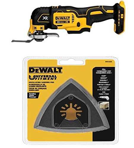 DEWALT DCS355B 20V XR Oscillating Multi-Tool w/ DWA4200 Triangular Head Oscillating Sanding Pad
