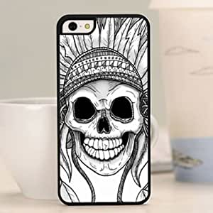 Patterned Skull Snap-on Hard Back Skins Hard Case Cover for iPhone 5c WHD 5c72 (12-Indian)