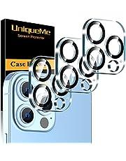 UnqiueMe [3 stycken] pansarglaskamera kompatibel med iPhone 13 Pro/iPhone 13 Pro Max kamera skyddsfilm lins, kameraskydd [bubbelfri] HD klar folie härdat glas