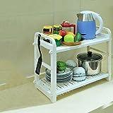 Hyun times Microwave Shelves Kitchen Supplies Pot Spatula Shelves Multi - Functional Rice Cooker Shelves Kitchen Appliances