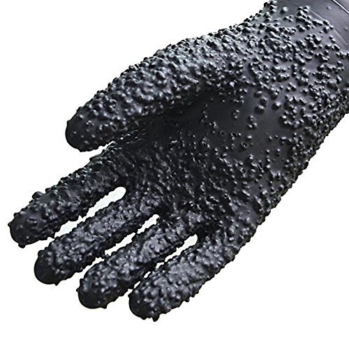 Sandblasted rubber gloves sandblasting chassis work longer 68cm anti-high temperature insulation labor protection products anti-skid auxiliary by LIXIANG (Image #1)