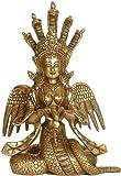 Naga Kanya - Brass Sculpture