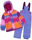 Deux par Deux Girls' 2-Piece Snowsuit Snow Sunset Blue, Sizes 4-14 - 7