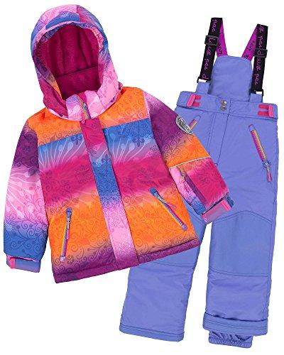 Deux par Deux Girls' 2-Piece Snowsuit Snow Sunset Blue, Sizes 4-14 - 7 by Deux par Deux