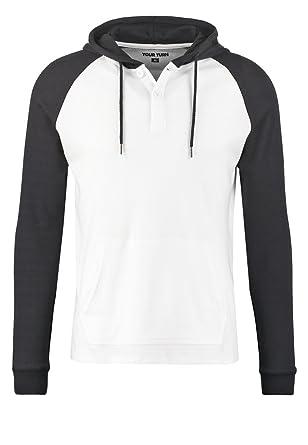 YOURTURN Hoodie Herren in Schwarz oder Grau – Sweatshirt mit ... 2c3049998a