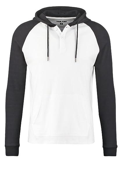 À Homme Yourturn Coton En Blanc Capuche Pour S Sweat YYnq5v