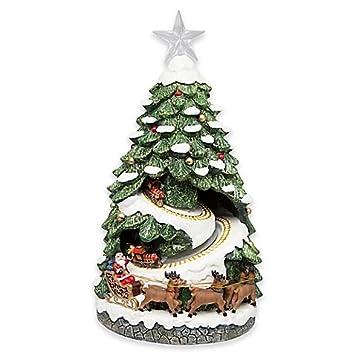 nostalgic led lighted christmas tree village scene
