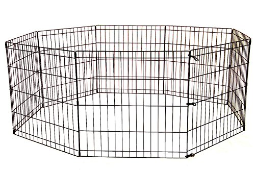 36 Tall Dog Playpen Crate Fence Pet Kennel Play Pen Exercise Cage -8 Panel
