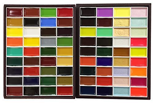 KISSOH Gansai 72-Color - Juego de Pintura de Acuarela Japonesa