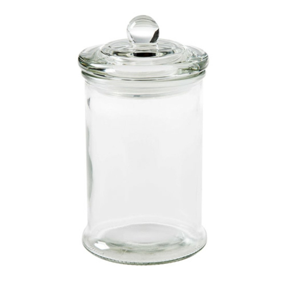 Food storage container,Clear glass apothecary jar,Candy glass jar durable seal pot glass canning jar set of 2-A 6x9cm(2x4inch) THGFGGHFG