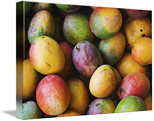 Wall Art Print entitled Hawaii, Oahu, Honolulu, Fresh, Ripe Mangoes For Sa by Design Pics | 48 x - Oahu Marketplace