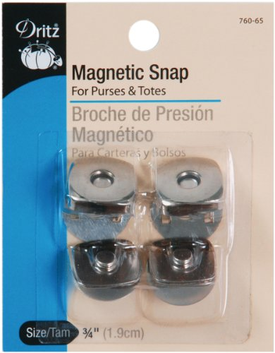 (Dritz 760-65 Magnetic Snap, Square, 3/4-Inch, Nickel, 2)