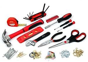 Apollo Precision Tools DT2011RE Kitchen Drawer Tool Kit, Red, 126-Piece
