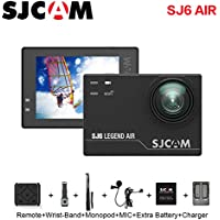 SJCAM SJ6 AIR Action Sports Camera Full HD 1080P 166°Wide Angle Waterproof Action Cam Sports DV Camcorder, Black