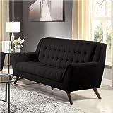 Coaster Baby Natalia Retro Mid-Century Modern Sofa, The legs come in beautiful cappuccino, solid eucalyptus wood