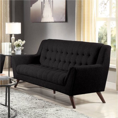 Coaster Baby Natalia Retro Mid-Century Modern Sofa, The legs come in beautiful cappuccino, solid eucalyptus wood (Thomasville Sectional Sofas)