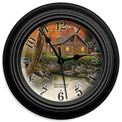 Reflective Art Weekend Retreat Wall Clock, 10-Inch
