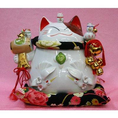 招き猫 置物開運縁起物金運風【(猫舎 招福だるまバンク(大)】 N1新築祝い開店祝い開業祝い B00HITM4WS