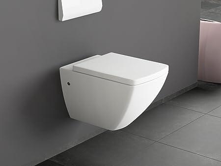 Aqua Bagno HAWC25-39 Designer Ceramic Wall-Hung Toilet with Seat ...
