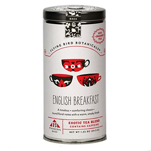 Flying Bird Botanicals - Organic English Breakfast Black Tea (15-Bag Tin)