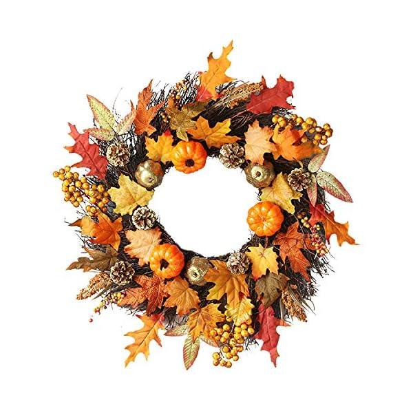 ZTY66-Christmas-Wreath-Garlands-60cm-Rattan-Berry-Maple-Leaf-Fall-Door-Wreath-Door-Wall-Ornament-Halloween