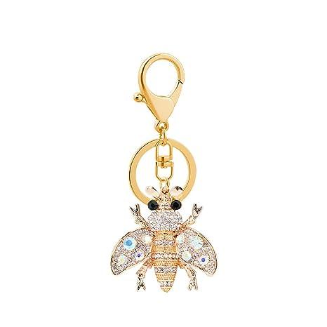 YUnnuopromi - Llavero con Forma de Abeja y Diamantes de ...