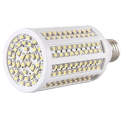 E27 Bombilla 240 3528 SMD LED luz Blanco Cálido 8W 3600K: Amazon.es: Iluminación