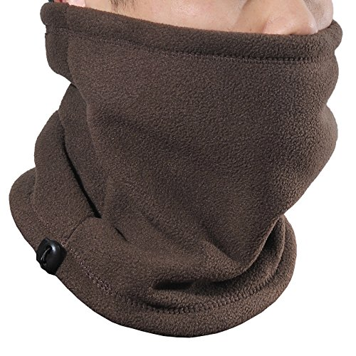 Yeeasy Neck Warmers Gaiters Thick Thermal Fleece Lined Winter Ski Face Mask Unisex Double-Layer Cold Weather Gear (Coffee) (Cold Weather Neck Fleece)