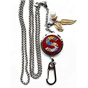 RhyNSky Letter - S Aromatherapy Essential Oil Diffuser Locket Pendant ID Badge Holder Lanyard Necklace Bracelet Keychain with Chain and Pads, C1149