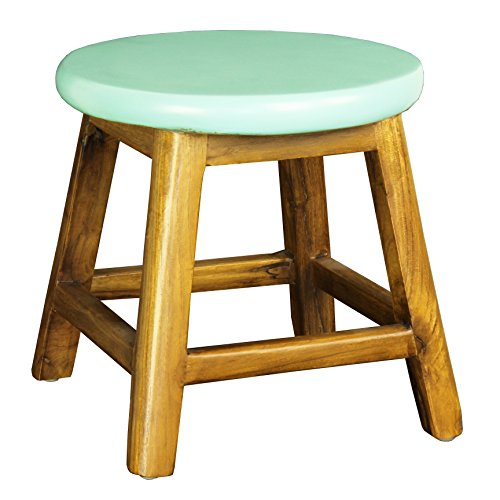 Antique Revival Bobby Stool, Blue by Porthos Home