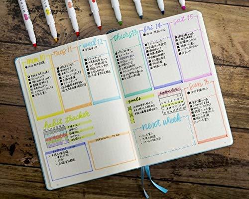 ZEBRA MILDLINER Highlighter pen markers, 5-Pack (WKT7-5C / WKT7-5C-NC / WKT7-5C-RC / WKT7-N-5C / WKT7-5C-HC) 25 Color Full Range Set with Original vinyl pen case by ZEBRA MILDLINER (Image #5)