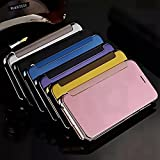 Tsanglight Luxury Electroplating Slim Transparent Flip Mirror Phone Cases for Samsung Galaxy A3 A310(2016)/A5/A5 A510(2016)/A7/A7 A710(2016)/A9 A9100/J1 J120(2016)/J5 J510(2016)/J7 J710(2016)/Note 5