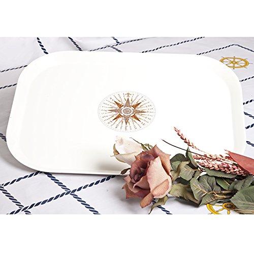 Cartaffini /&apos Bandeja rectangular rosa de los vientos melamina, 45/x 33/cm//–/Color Blanco Marfil