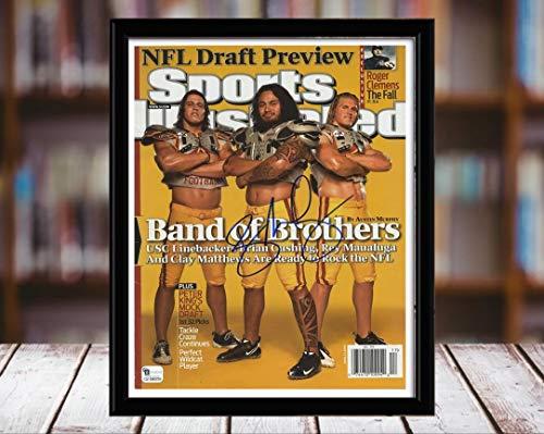 Rey Maualuga Sports Illustrated Autograph Replica Print - Band of Brothers - USC Trojans - 4/27/9-5x7 Desktop Framed Print