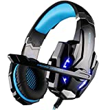 VersionTech Latest Version G9000 Stereo Gaming Headset, Headphones With Microphone, LED Lights for PlayStation 4/PS4, Laptop, Tablet Smartphone and MP3 Player - Blue