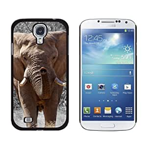 New style Africa African Elephant Snap-On Hard Protective Case for Samsung Galaxy S4 - Non-Retail Packaging - Black